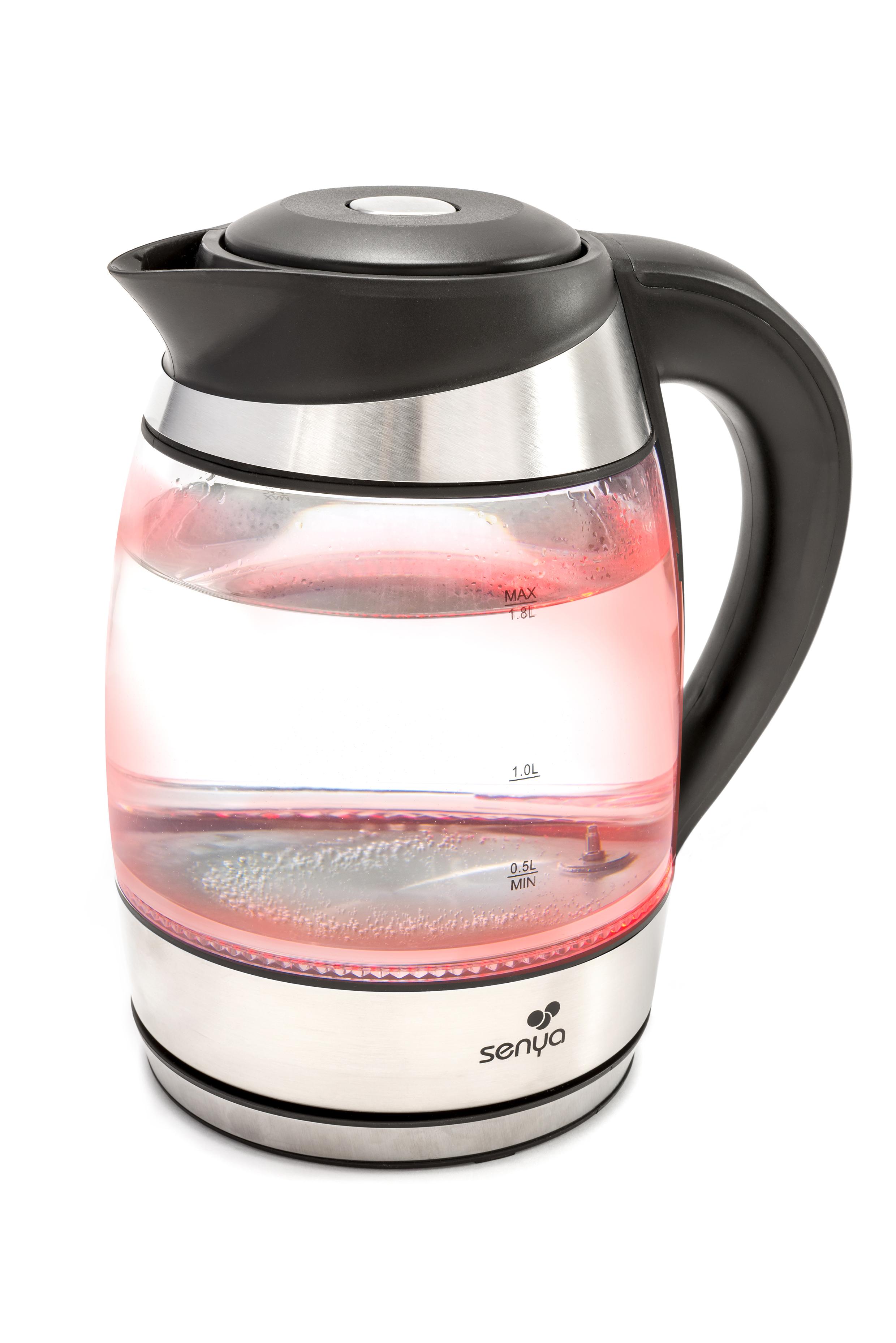 bouilloire en verre temp rature r glable tea colors senya. Black Bedroom Furniture Sets. Home Design Ideas
