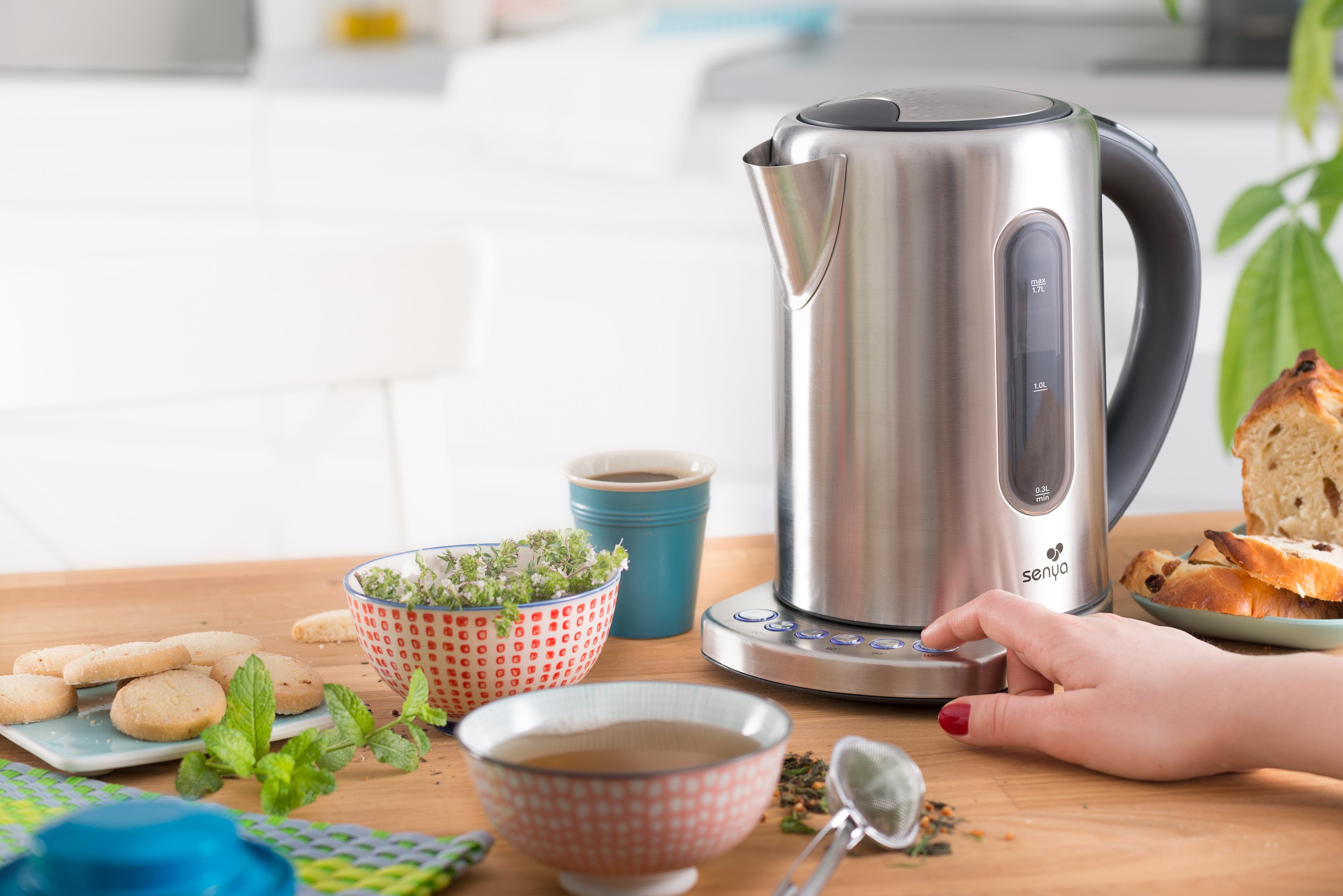 Bouilloire r glage de temp rature inox tea touch senya - Bouilloire inox temperature reglable ...
