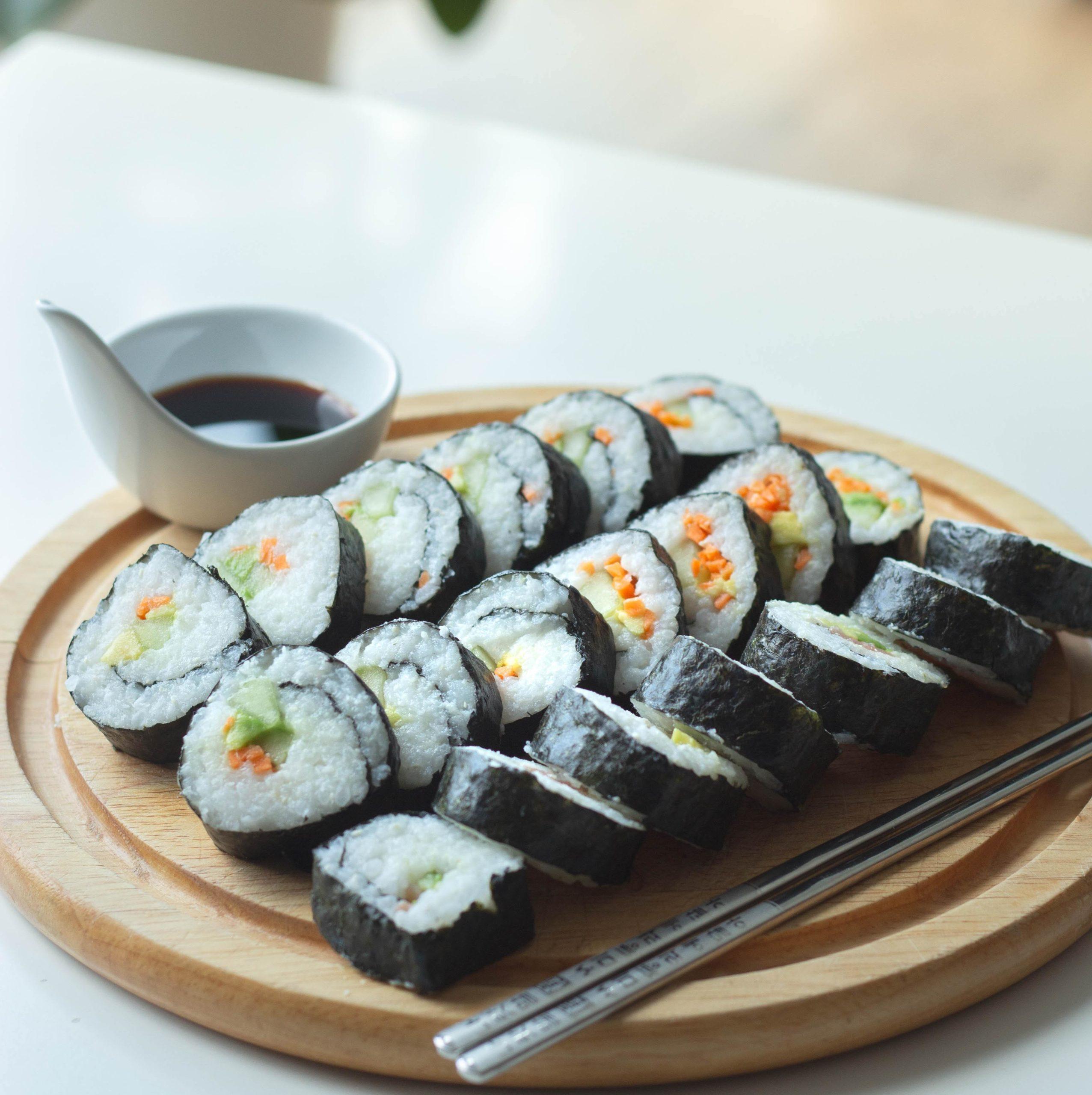maki réalisé grâce au cuiseur riz kit sushi de Senya