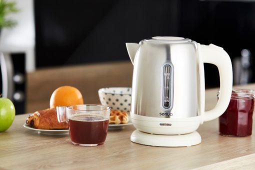 Bouilloire électrique en ions Little Tea couleur crème de la marque Senya