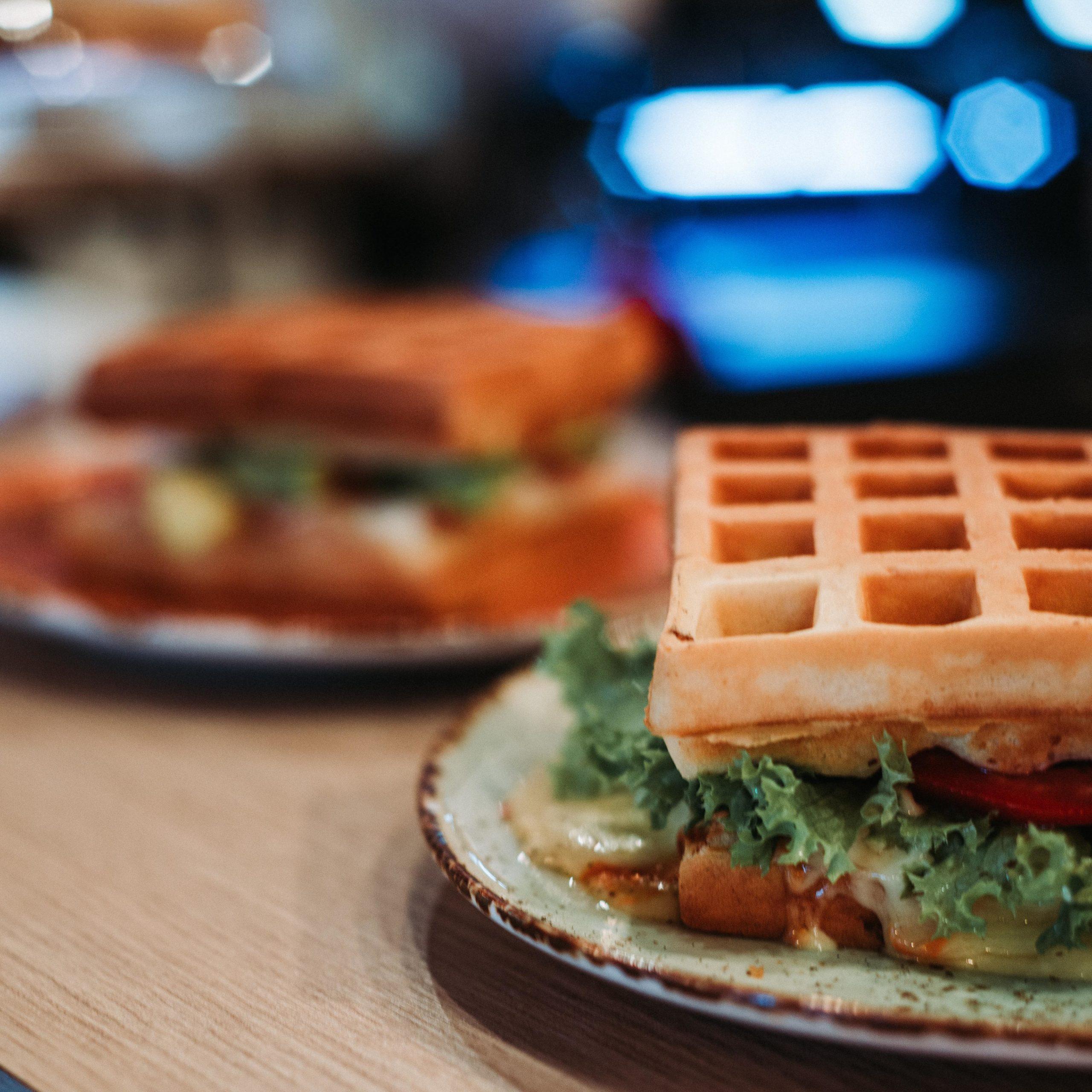 Gaufre salée réalisée avec le gaufrier Multi Waffles de Senya