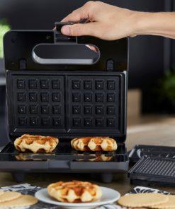Appareil croquemonsieur gaufrier gaufrette 3 en 1 Waffle Party