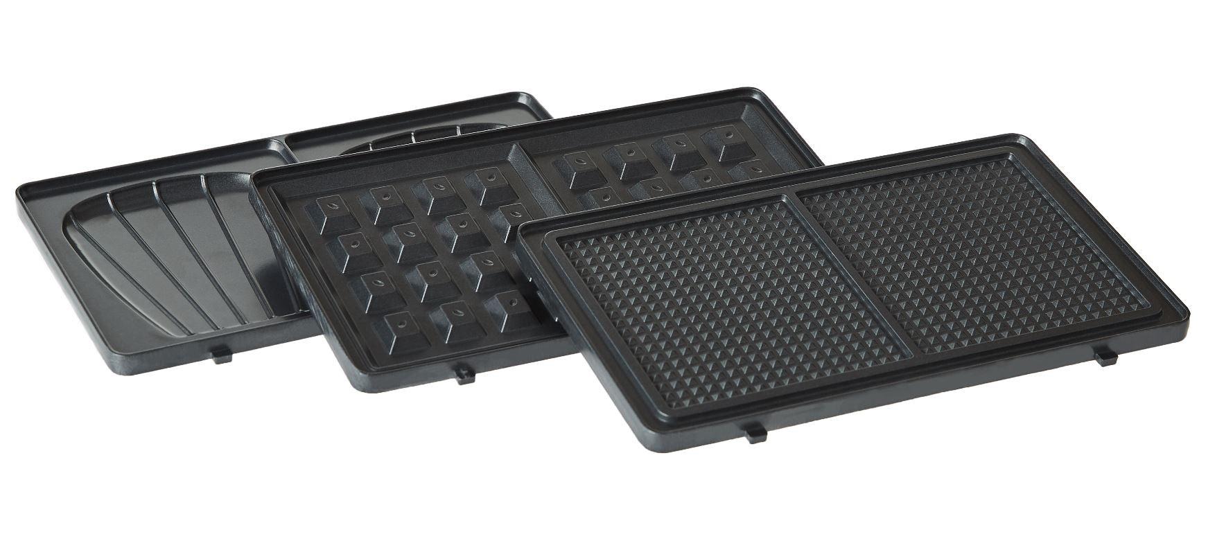 Ensemble des plaques vendues avec l'appareil Waffle Party