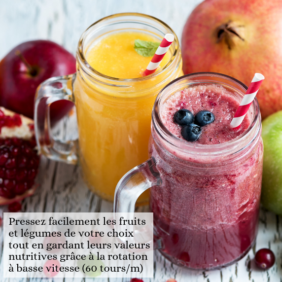 Extracteur de jus de fruits et légumes Senya Healthy juicer Noir