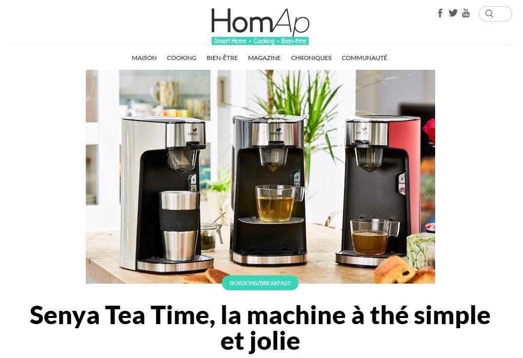 article sur la machine a the ecrit par homap