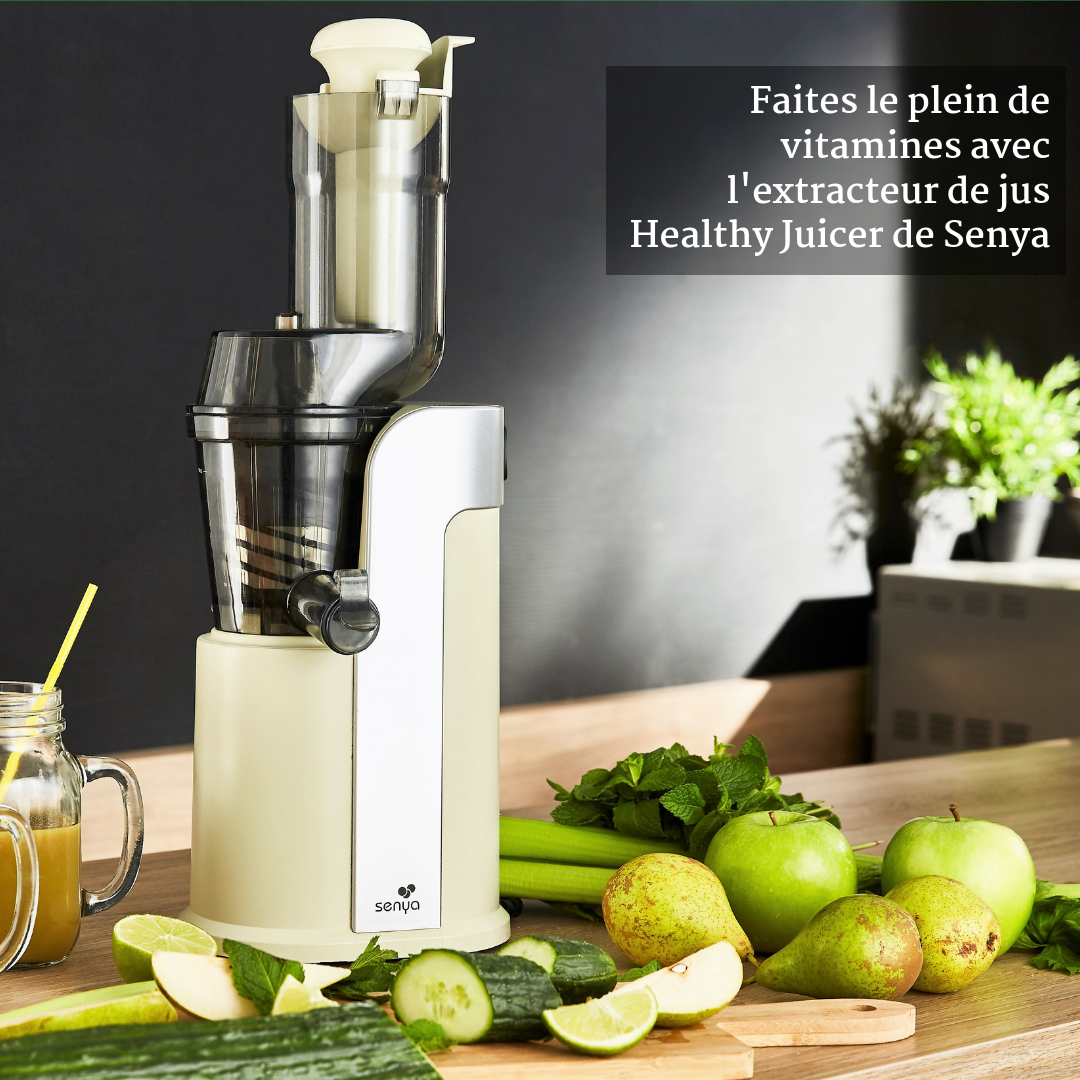 Extracteur de jus de fruits et légumes Senya Healthy juicer Crème