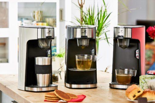 Les trois machines à thé, théières électriques, de Senya