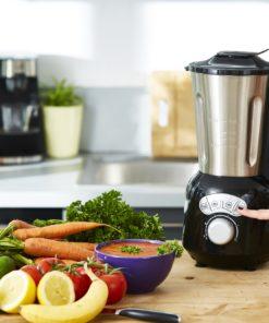 Blender chauffant multifonction inox Cook & Ice V3 blender smoothie noir 1,5L 1400W