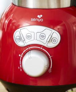Blender chauffant inox de couleur crème de Senya. ceci est la version 3. cela signifie qu'il comporte 3 vitesses
