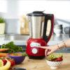Blender chauffant multifonction inox Cook & Ice V3 blender smoothie rouge 1,5L 1400W