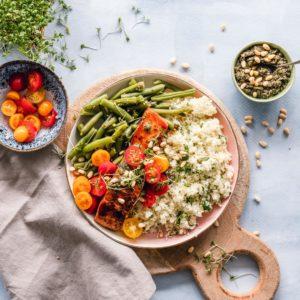 Cuisson vapeur de poisson et de légumes réalisés avec le Blender Cook&Ice Senya