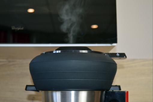 Panier vapeur lors d'une cuisson de légumes