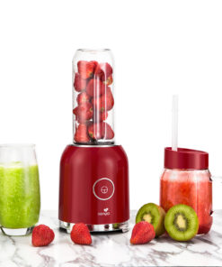 mini blender smoothie de Senya, couleur rouge, 250W, Juicy Delight