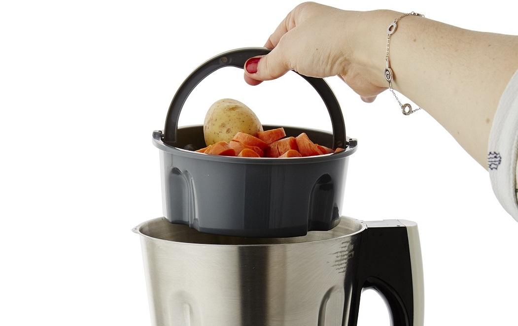 Petit panier vapeur du blender mixeur chauffant Cook&Ice de Senya