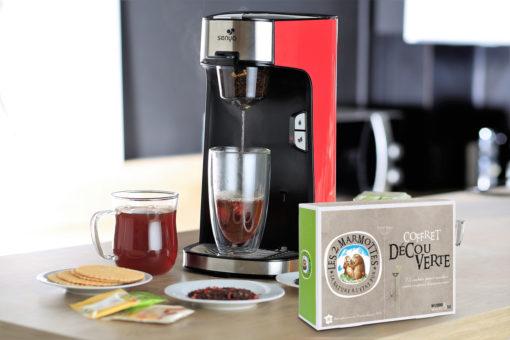 Senya machine à thé, théière électrique, avec le coffret découverte des deux marmottes