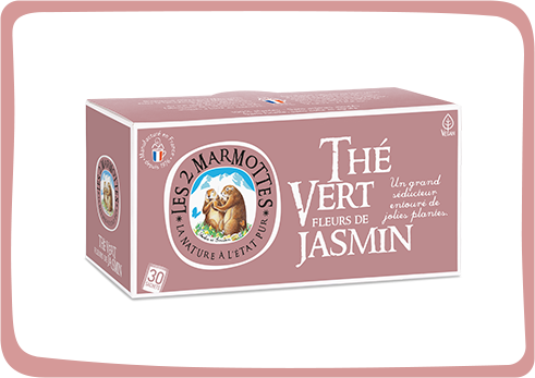 Thé vert et fleurs de jasmin des Deux Marmottes